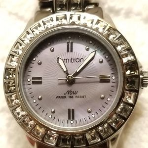 Armitron Purple Mother of Pearl Dial Watch Crystal